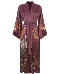 Meng - Black Silk Satin Unlined Robe - Lyst