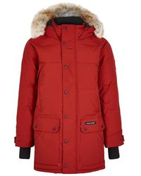 Canada Goose - Emory Red Fur-trimmed Parka - Lyst