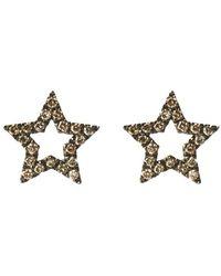 Rosa De La Cruz Star Studs Pair - Metallic