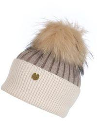 Popski London Angora Hat - Natural