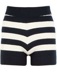 Extreme Cashmere N°179 Very Striped Cashmere-blend Shorts - Blue