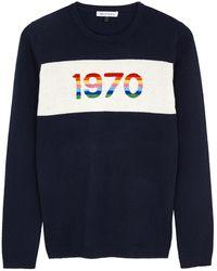 Bella Freud 1970 Navy Cashmere-blend Jumper - Blue