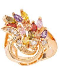Susan Caplan Embellished Swirl Ring - Metallic