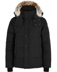 Canada Goose Wyndham Fur-trimmed Arctic-tech Parka - Black