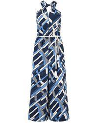 Jigsaw Graphic Weave Jumpsuit - Blue