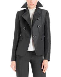 Max Studio - Heavy Satin Tailored Jacket - Lyst