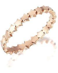 Kismet by Milka 14ct Rose Gold Multi Star Ring - Metallic