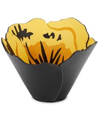 Loewe Pansy Leather Vase - Yellow
