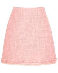 Tory Burch Pink Bouclé Tweed Mini Skirt