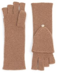 Theory Fold-back Gloves In Cashmere - Multicolour