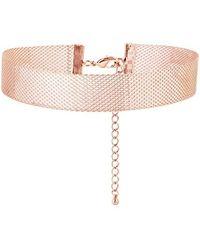 Alinka Jewellery Silhoutte Mesh Choker Rose Gold - Pink