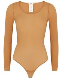 Wolford Buenos Aires Caramel Bodysuit - Natural