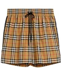 Burberry - Vintage Check Drawcord Shorts - Lyst