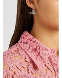 Vivienne Westwood Mini Bas Relief Silver-tone Drop Earrings - Metallic