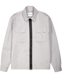 MKI Miyuki-Zoku Grey Crinkled Shell Overshirt