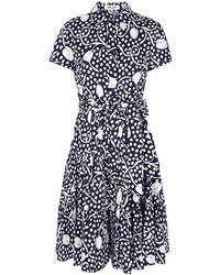 Diane von Furstenberg Zaria Printed Cotton Midi Dress - Blue