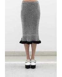 Jamie Wei Huang Lily Cashmere Ruffle Skirt - Gray