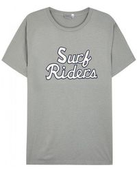 Ebbets Field Flannels - Surf Riders Printed Cotton T-shirt - Size L - Lyst