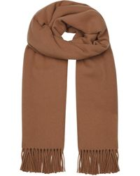 2f18f4ab3c4 Mulberry Cashmere Scarf, Women's, Camel in Natural - Lyst