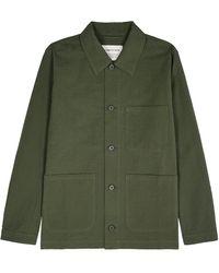A Kind Of Guise Ashanti Green Seersucker Cotton Jacket