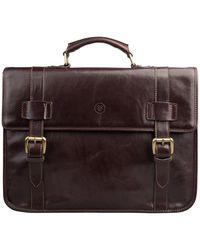 Maxwell Scott Bags Men S Luxury Brown Leather Rucksack Briefcase