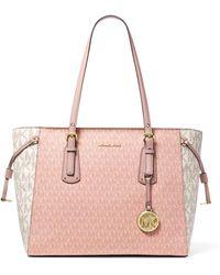 Michael Kors Voyager Medium Color-block Logo Tote Bag - Pink