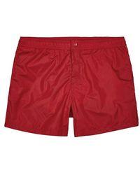 Moncler - Dolmais Red Swim Shorts - Lyst