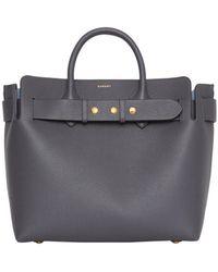 Burberry The Medium Leather Triple Stud Belt Bag - Gray