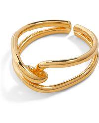 Jigsaw Knot Ring - Metallic