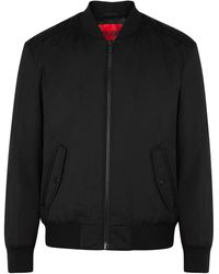 HUGO Boris Black Nylon Bomber Jacket