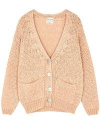 Forte Forte Sand Open-knit Silk-blend Cardigan - Natural