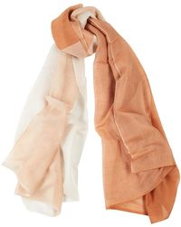 Denis Colomb Silky Cloud Two-tone Cashmere-blend Scarf - Pink