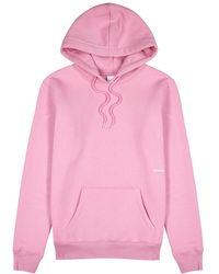 Soulland Wallance Pink Jersey Sweatshirt