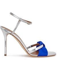 Malone Souliers - Terry 100 Silver Leather Sandals - Lyst