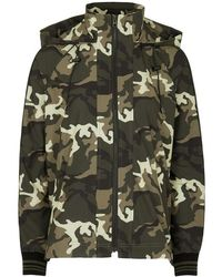 The Upside - Camouflage Hooded Shell Jacket - Lyst