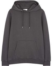 COLORFUL STANDARD Charcoal Hooded Cotton Sweatshirt - Grey