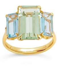 Dinny Hall Gold Vermeil Trinny Trilogy Green Amethyst And Oro Verde Ring - Metallic