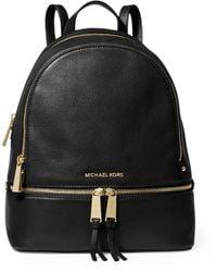 MICHAEL Michael Kors Michael Kors Women's Black Rhea Extra-small Leather Backpack
