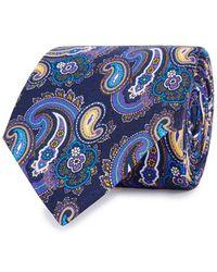 Eton of Sweden - Purple Paisley-jacquard Silk Tie - Lyst