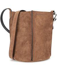 Acne Studios Market Brown Suede Bucket Bag