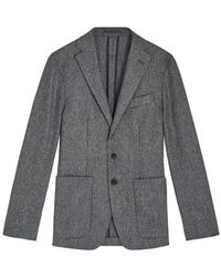 Jigsaw Stretch Wool Two Button Jacket Mens New Blue Navy