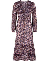 Veronica Beard - Vani Floral-print Midi Dress - Lyst