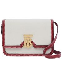 Burberry Small Two-tone Canvas And Leather Tb Bag - Multicolour