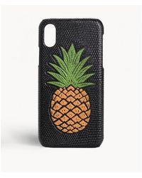 The Case Factory - Iphone Xr Pineapple Orange Lizard Black - Lyst