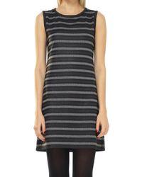 Max Studio - Coated Tonal Striped Knit Shift Dress - Lyst