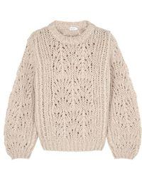 Filippa K - Ecru Chunky-knit Mohair-blend Jumper - Lyst