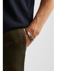 Tateossian Medium Brushed Silver-tone Chain Bracelet - Metallic