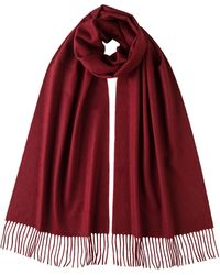 80080598a4 Merlot Oversized Classic Cashmere Scarf - Red