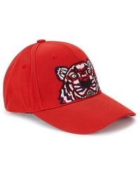 KENZO - Tiger-embroidered Cotton Twill Cap - Lyst