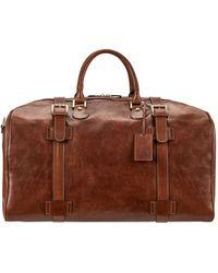 Maxwell Scott Bags Maxwell Scott Italian Made Large Leather Luggage Bag - Flerol Tan - Brown